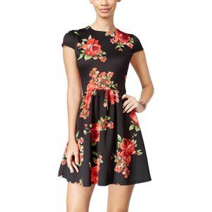 B Darlin Rose Print Dress
